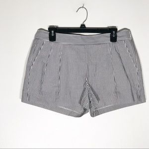 J. Crew Shorts Womens 8 Blue White Seersucker